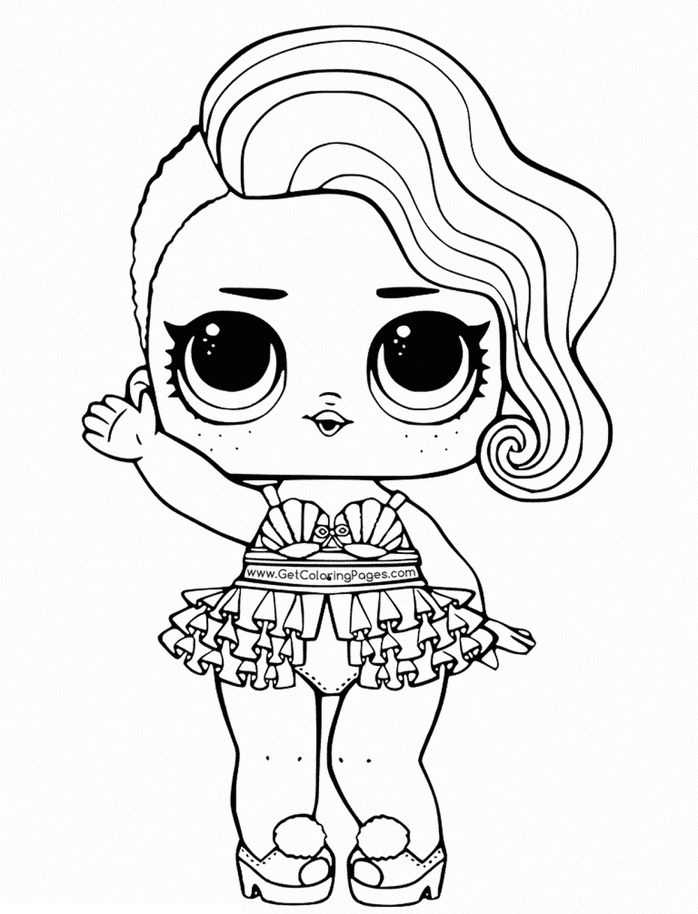 coloring picture lol lol doll glitter queen coloring page free printable lol coloring picture