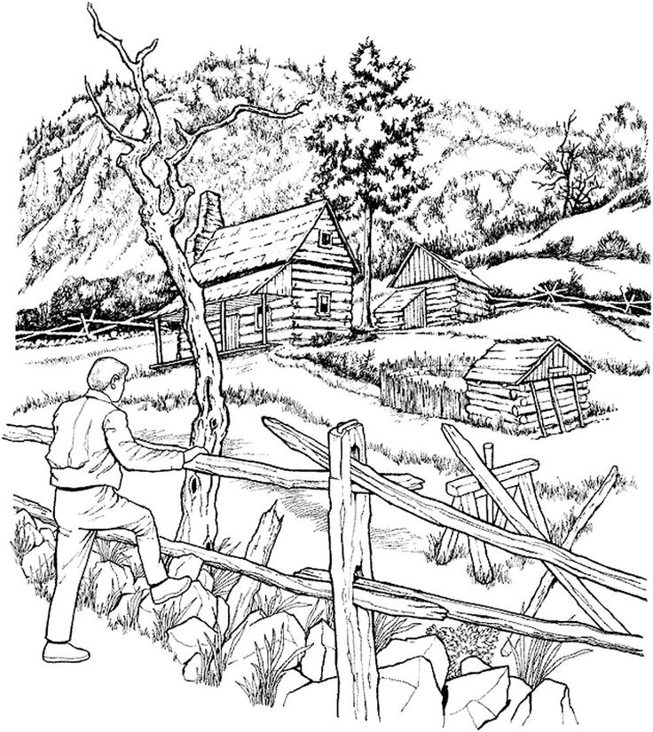 coloring picture of a log cabin log cabin coloring page at getcoloringscom free cabin of picture a coloring log