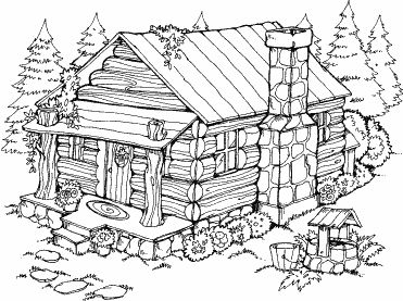 coloring picture of a log cabin log cabin coloring page at getcoloringscom free picture of a log cabin coloring