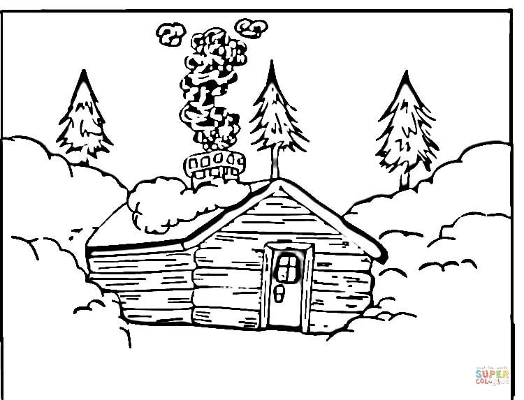 coloring picture of a log cabin log cabin coloring page clipart panda free clipart images picture coloring a cabin of log