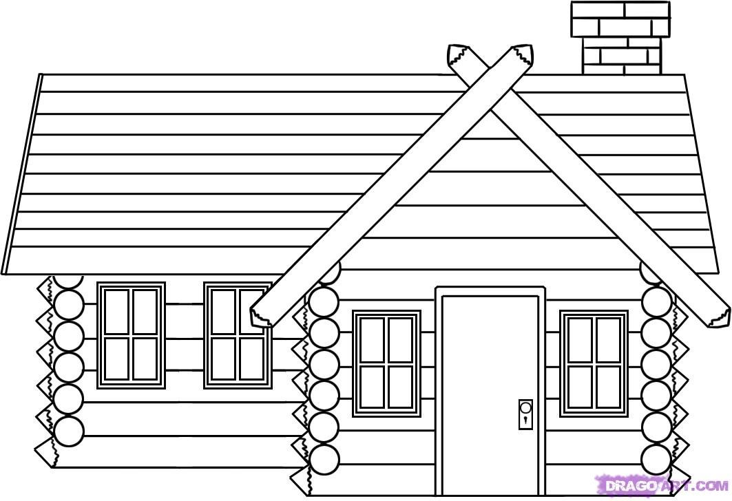 coloring picture of a log cabin log cabin coloring page free download on clipartmag picture coloring a cabin of log