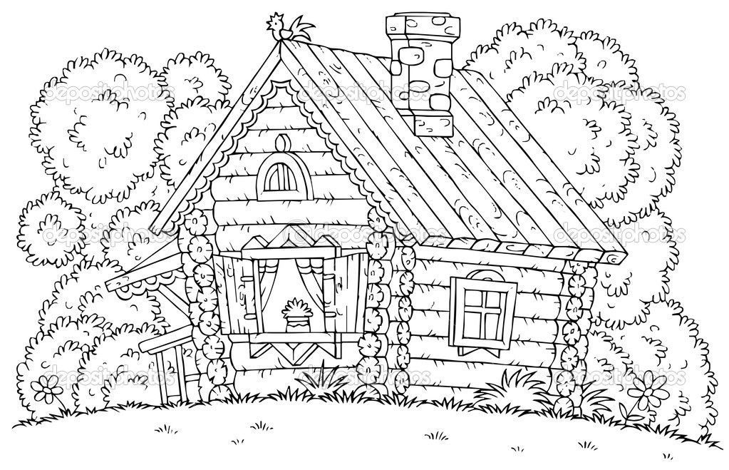 coloring picture of a log cabin log cabin coloring pages coloring home log coloring cabin of picture a
