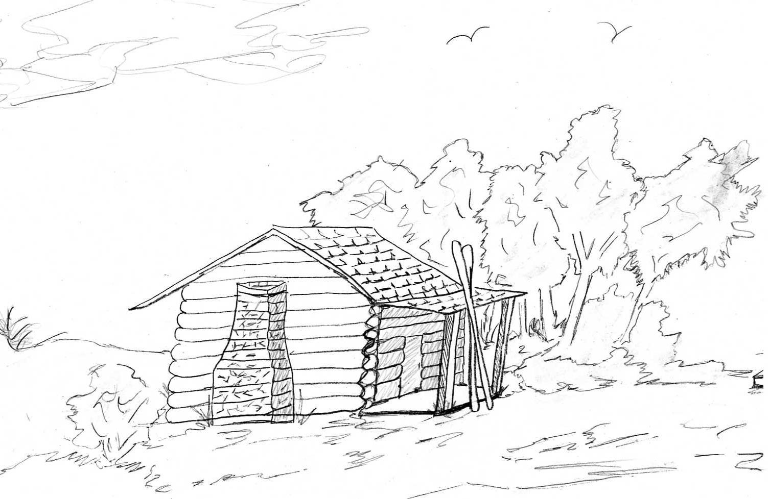 coloring picture of a log cabin log cabin coloring pictures food ideas log picture coloring of cabin a
