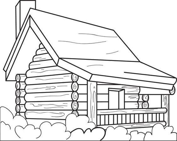 coloring picture of a log cabin log cabin drawing at getdrawings free download cabin log picture coloring a of