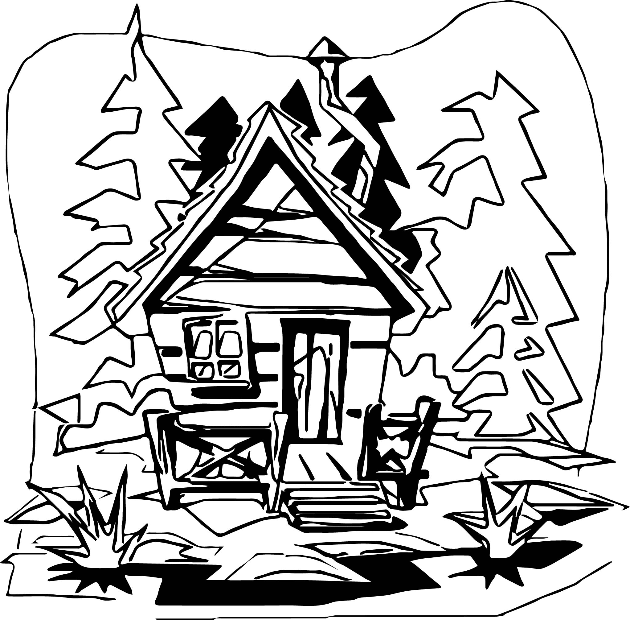coloring picture of a log cabin log cabin drawing at getdrawings free download picture log of cabin a coloring