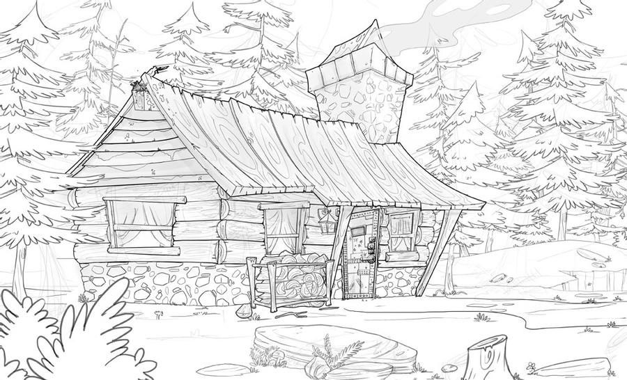 coloring picture of a log cabin old log cabins coloring pages coloring pages of picture coloring a cabin log