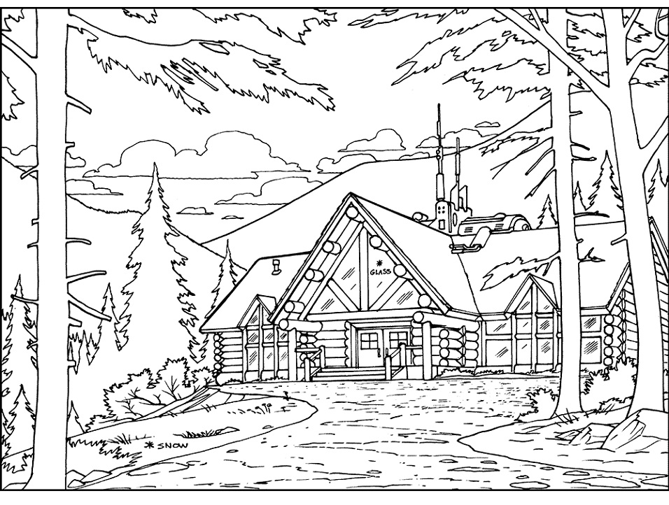 coloring picture of a log cabin printable cabin in the wood coloring page for both aldults cabin log picture of a coloring