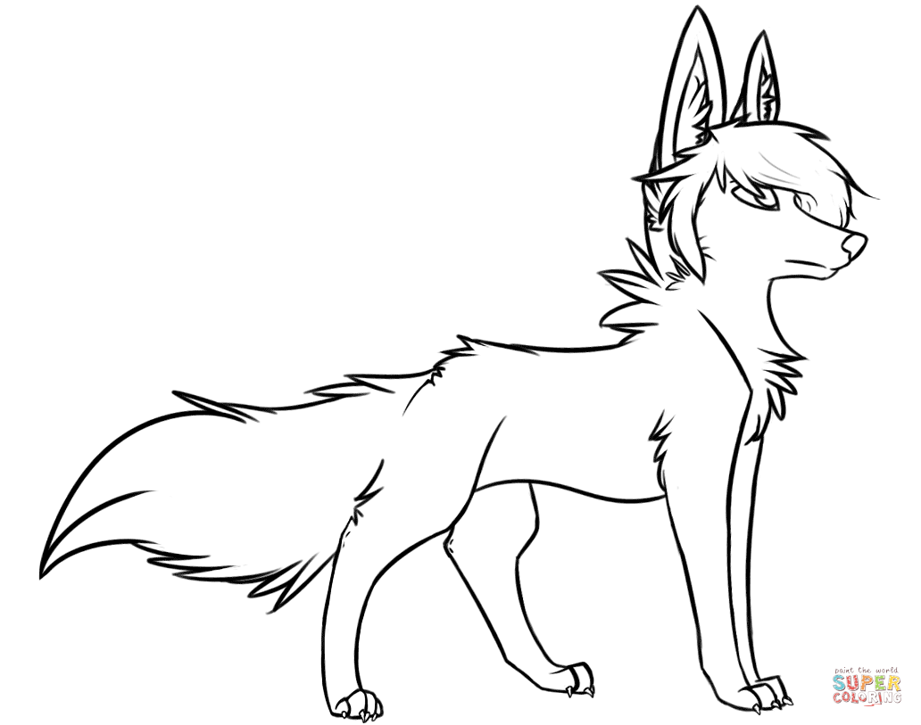 coloring picture of a wolf coloring pages of anime wolves to print free coloring sheets coloring wolf a picture of