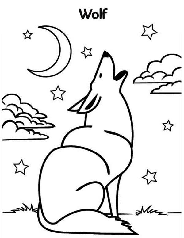 coloring picture of a wolf wolf free to color for kids wolf kids coloring pages a wolf of coloring picture