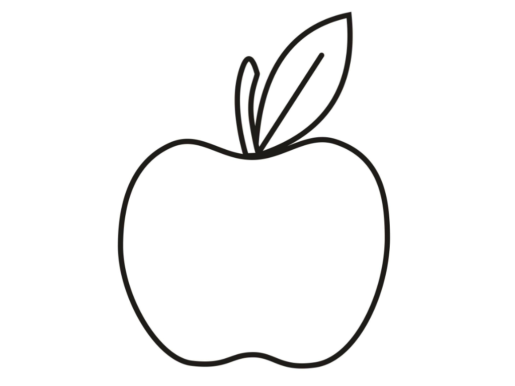 coloring picture of an apple apple coloring page super simple an apple of coloring picture