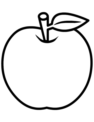 coloring picture of an apple apple coloring pages kidsuki coloring of picture apple an