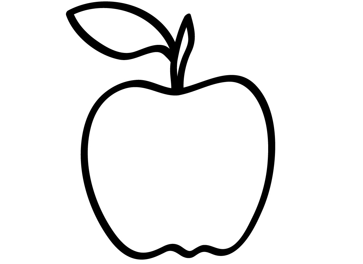coloring picture of an apple coloring pages for kids apple coloring pages for kids picture coloring an apple of