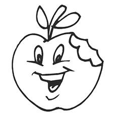 coloring picture of an apple colouring images of apple clipart best apple of coloring picture an