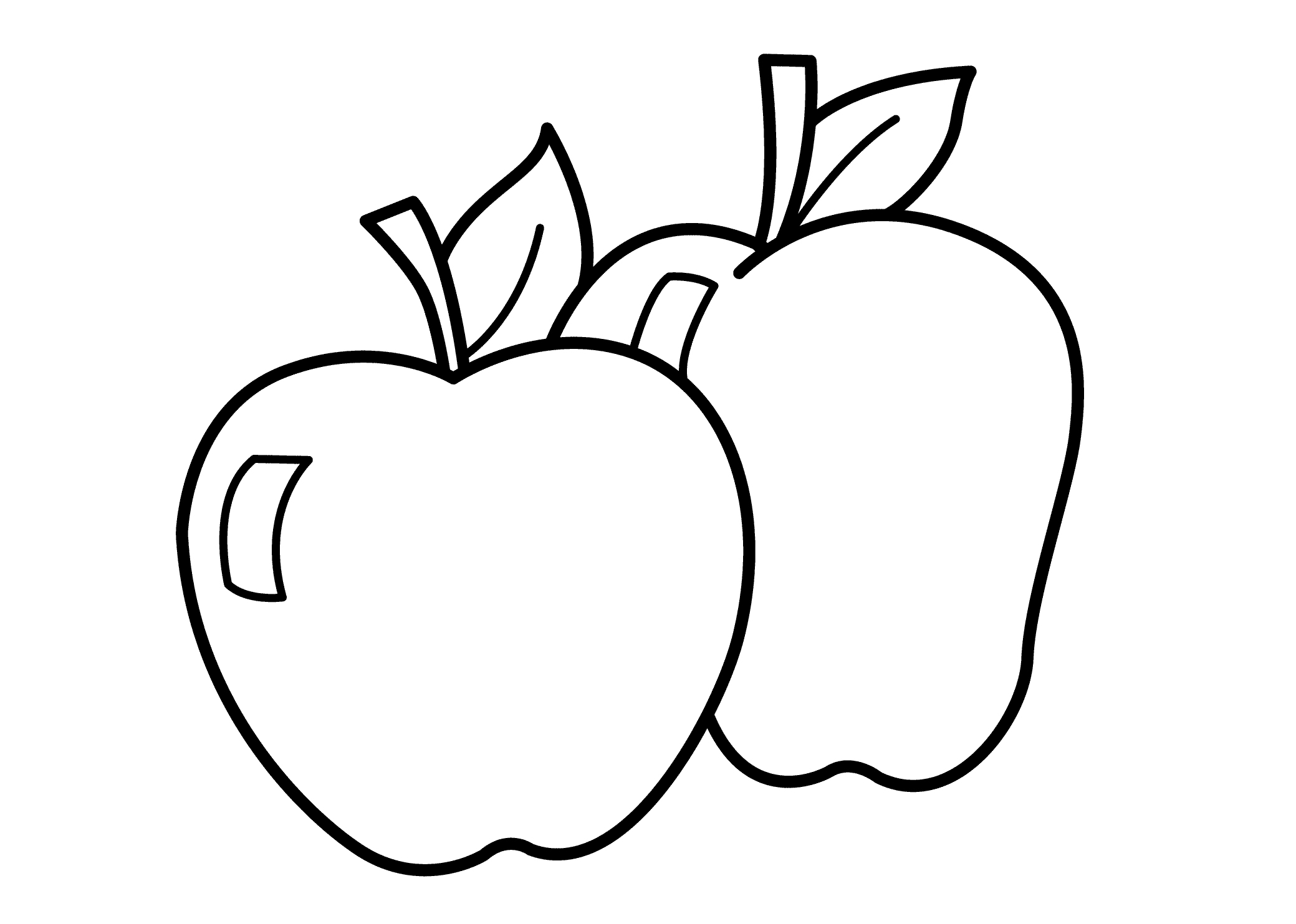coloring picture of an apple free printable apple coloring pages for kids picture of coloring an apple