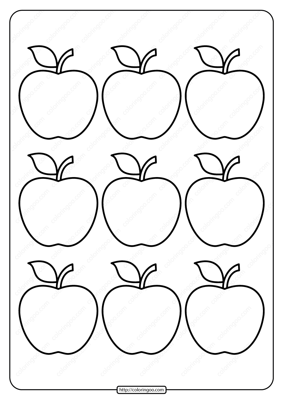 coloring picture of an apple printable simple apple outline 9 coloring page an picture of coloring apple
