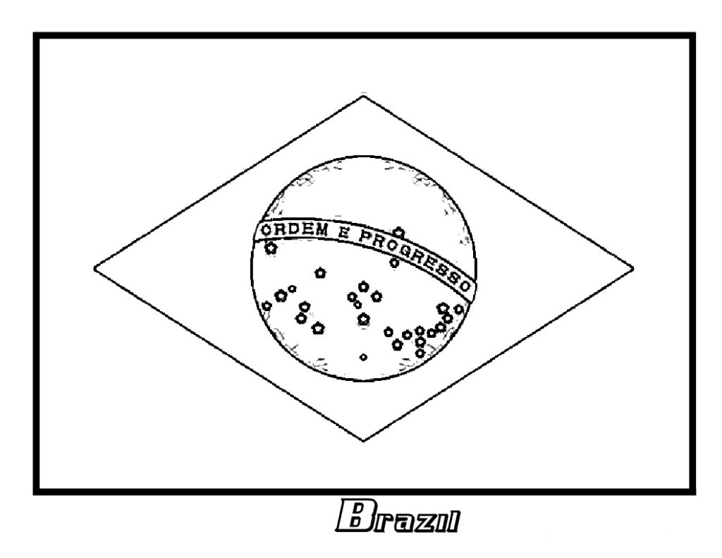 coloring picture of brazil flag brazil flag clipart 20 free cliparts download images on flag coloring of brazil picture