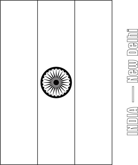 coloring picture of indian flag india flag colouring page of flag coloring picture indian