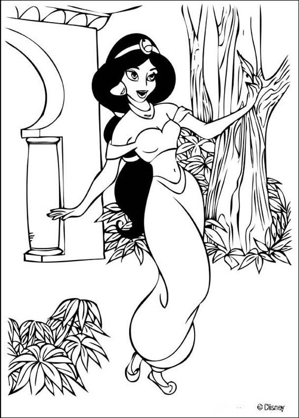 coloring picture of jasmine coloring pages for girls coloring pages for girls jasmine of picture coloring