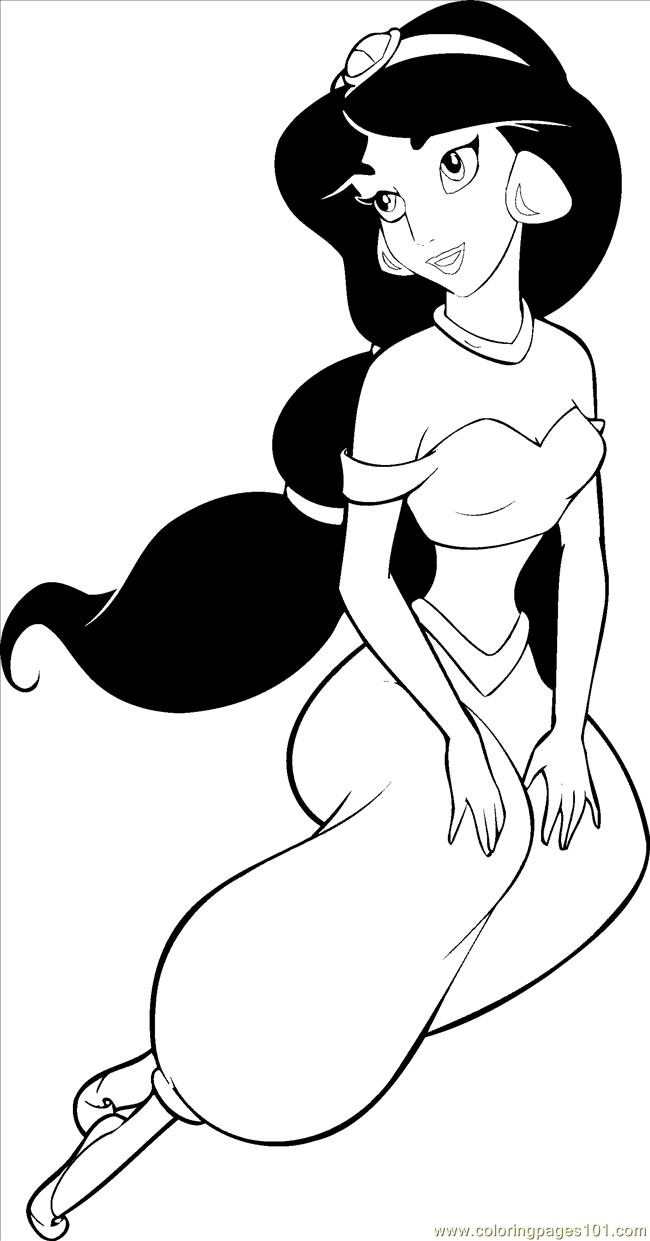 coloring picture of jasmine coloring pages princesses jasmine coloring cartoons coloring of jasmine picture
