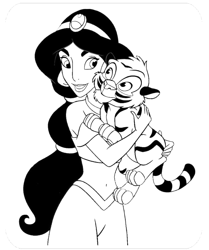 coloring picture of jasmine disney princess jasmine coloring pages coloring home coloring jasmine of picture
