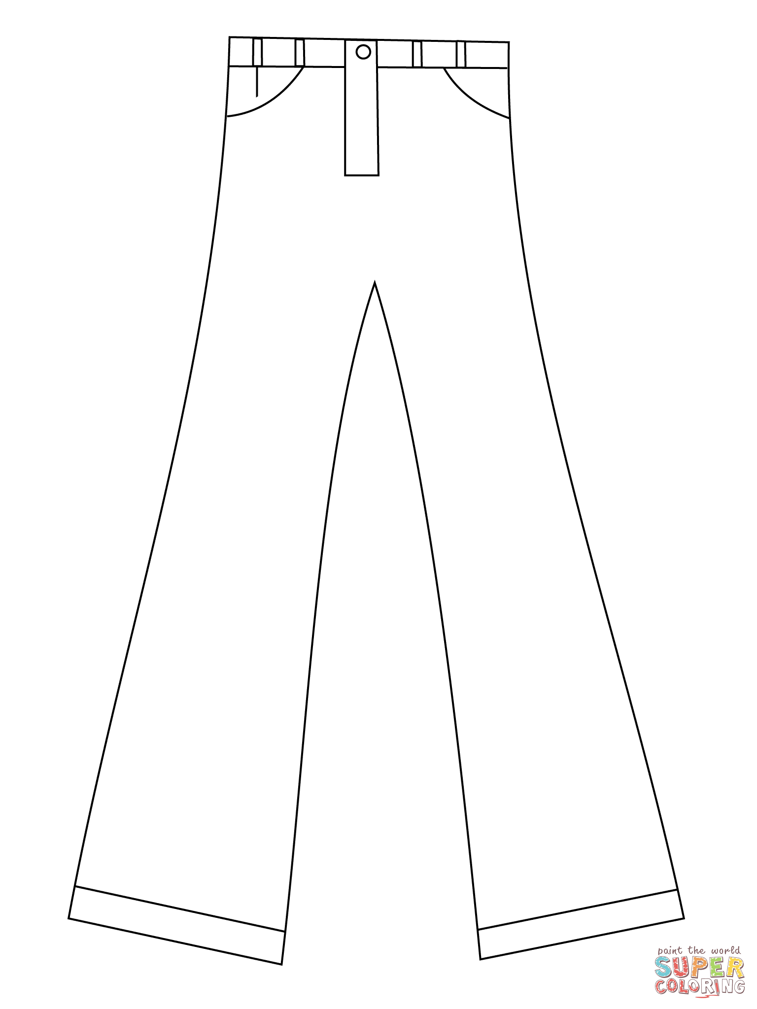 coloring picture of pants jeans drawing at getdrawings free download coloring picture pants of