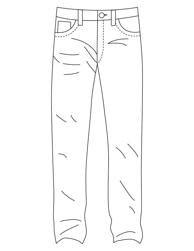 coloring picture of pants ripped jeans coloring page hd png download transparent pants coloring of picture