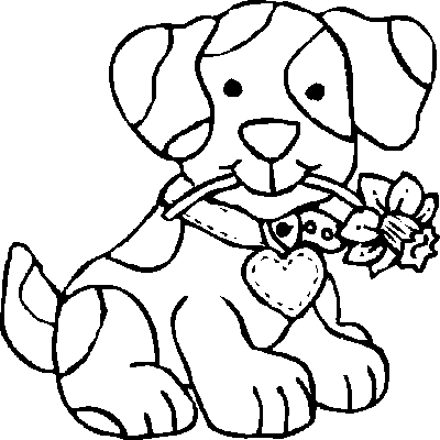 coloring picture of puppy printable dog coloring pages for kids of picture puppy coloring