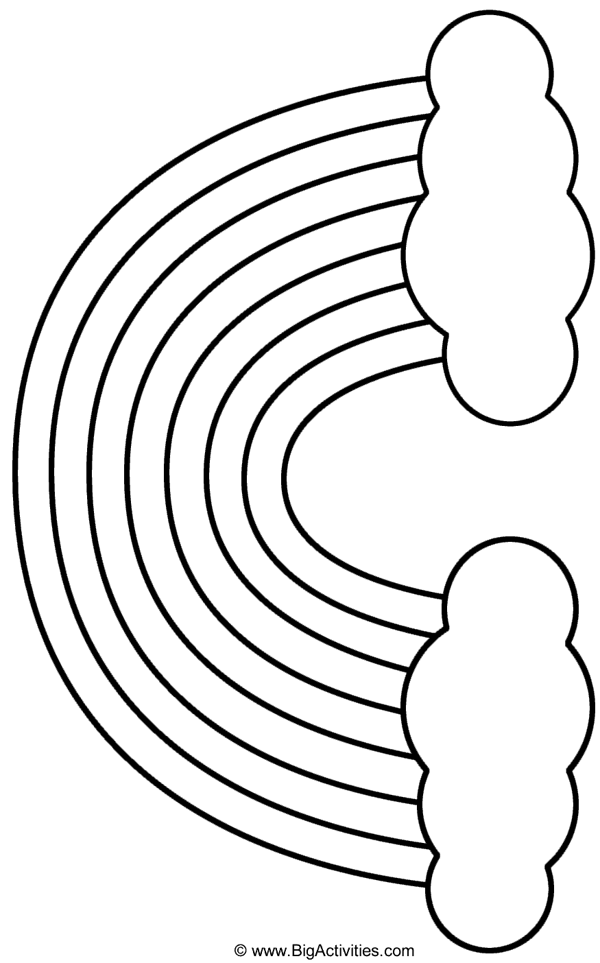 coloring picture of rainbow a simple drawing of rainbow behind the cloud coloring page of coloring picture rainbow