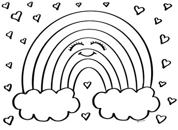 coloring picture of rainbow coloring picture of rainbow rainbow picture of coloring