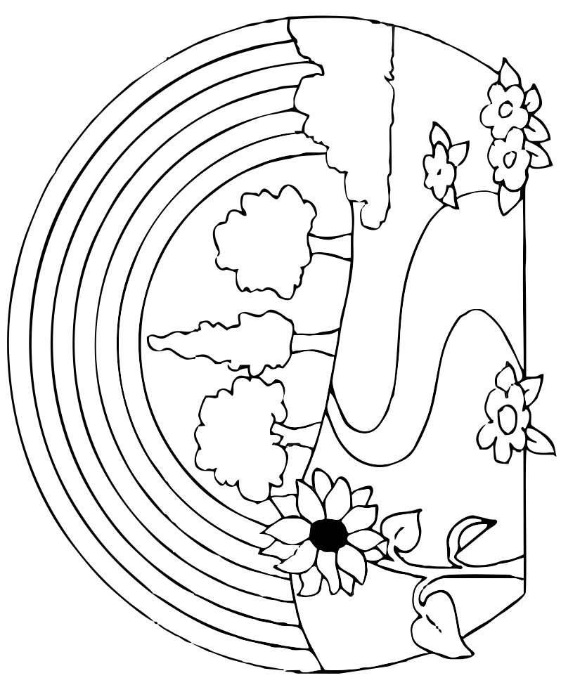 coloring picture of rainbow free printable rainbow coloring pages for kids of picture coloring rainbow