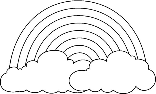 coloring picture of rainbow rainbow coloring page free download on clipartmag of coloring picture rainbow