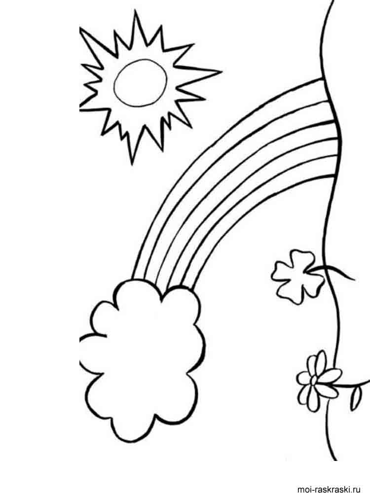 coloring picture of rainbow rainbow coloring page the sun flower pages coloring rainbow picture of