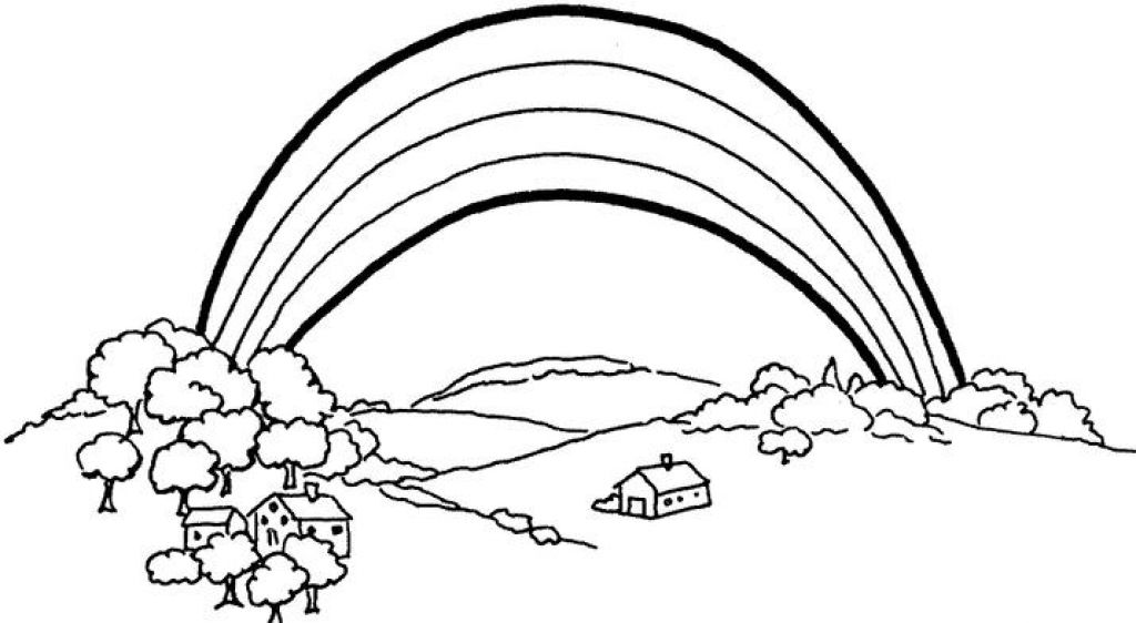 coloring picture of rainbow rainbow coloring pages free printables momjunction rainbow picture coloring of