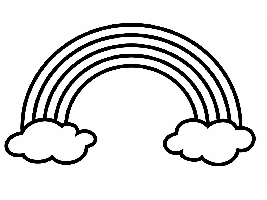 coloring picture of rainbow rainbow drawing black and white at getdrawings free download picture of coloring rainbow