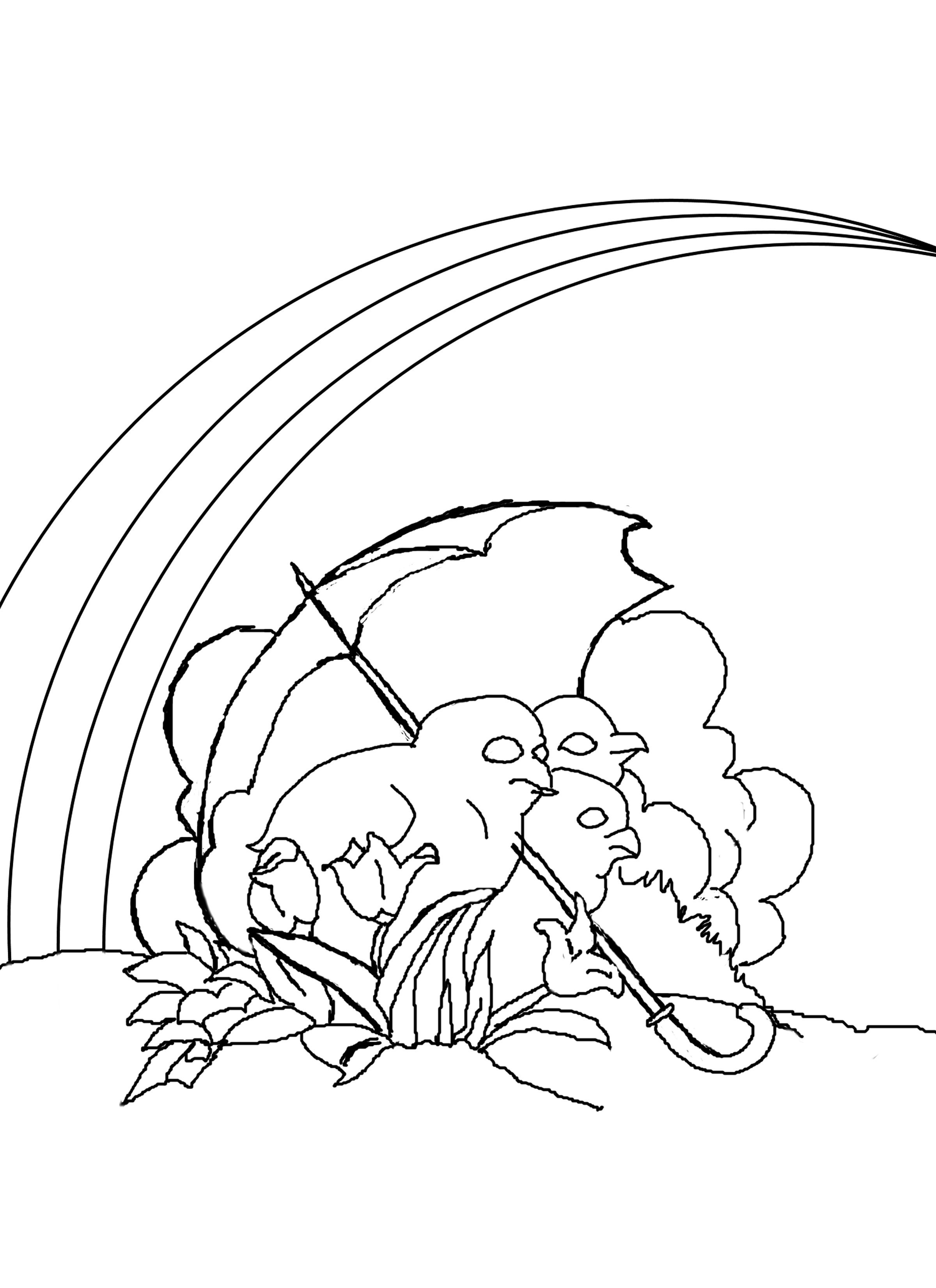 coloring picture of rainbow rainbow with clouds landscape coloring page st of rainbow coloring picture