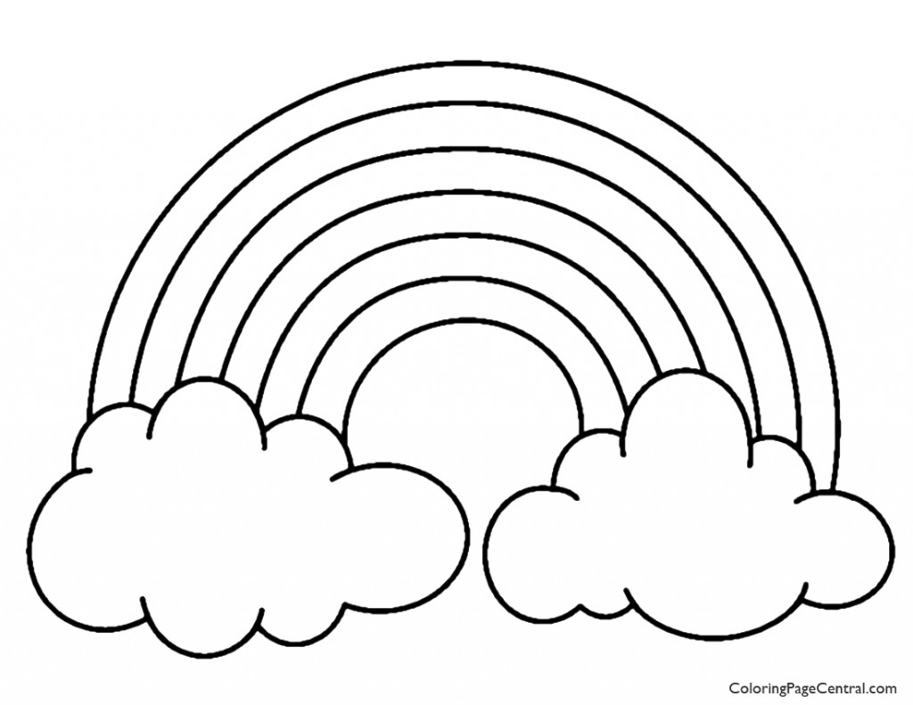 coloring picture of rainbow rainbow with color names coloring page nature rainbow coloring picture of