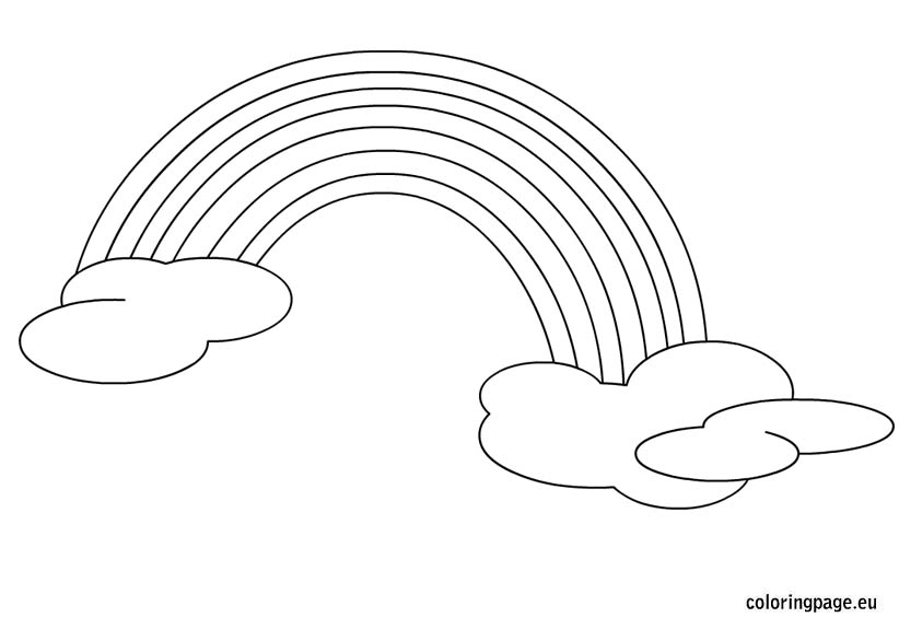 coloring picture of rainbow under the rainbow coloring page crayolacom rainbow of coloring picture