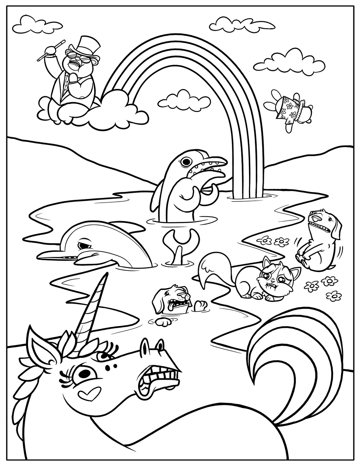 coloring picture printable free printable rainbow coloring pages for kids coloring picture printable