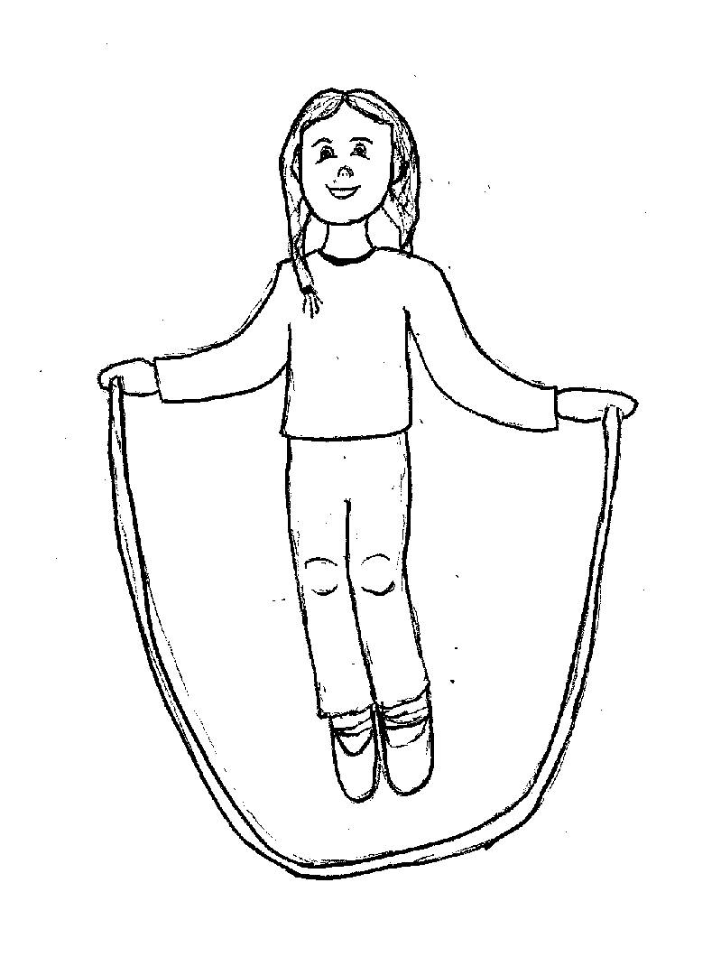 coloring picture rope girl jumping rope coloring page free clip art coloring rope picture