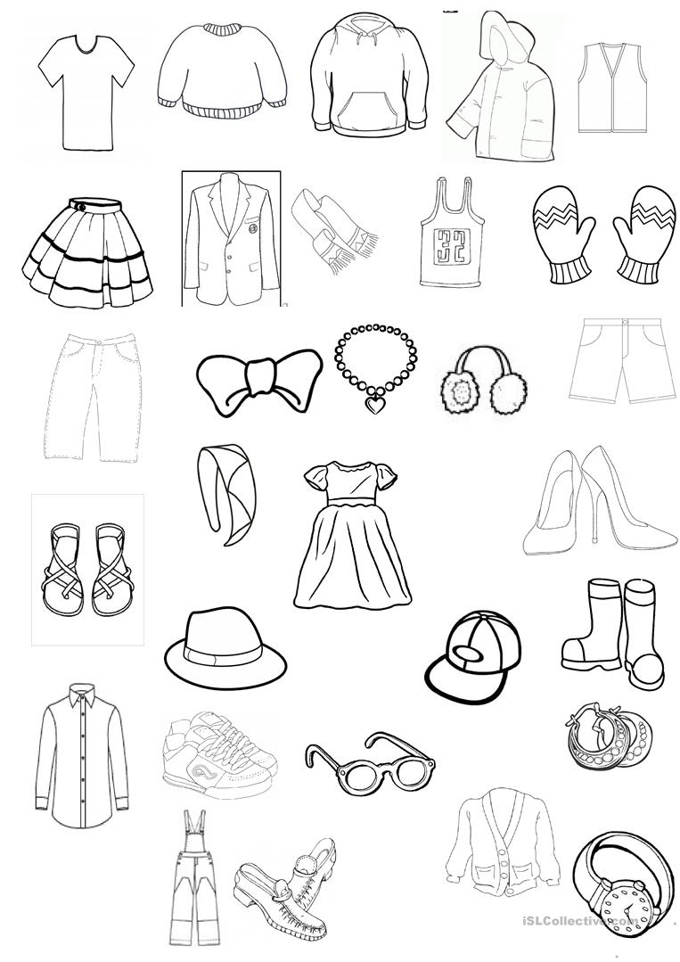 coloring picture shirt clothing colouring worksheet english esl worksheets for coloring shirt picture