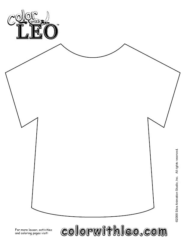 coloring picture shirt the learning site august 2012 shirt picture coloring