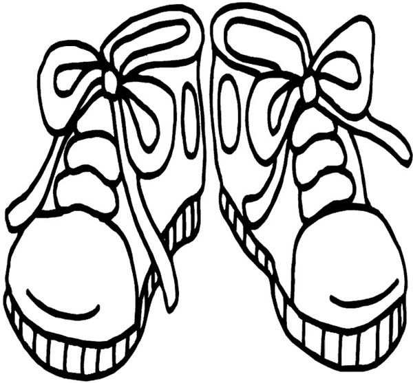 coloring picture shoes cartoon shoe drawing at getdrawings free download picture coloring shoes