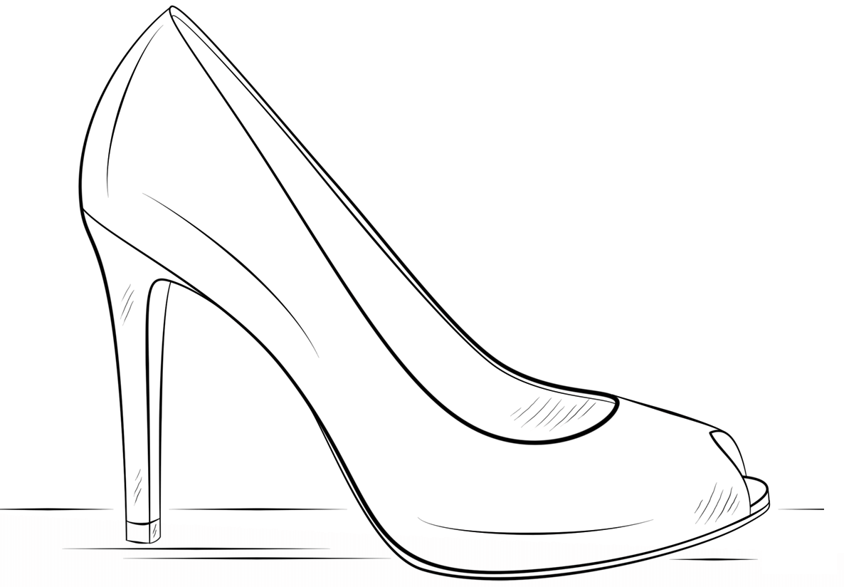 coloring picture shoes free coloring pages of high heel shoes for adults to print shoes picture coloring