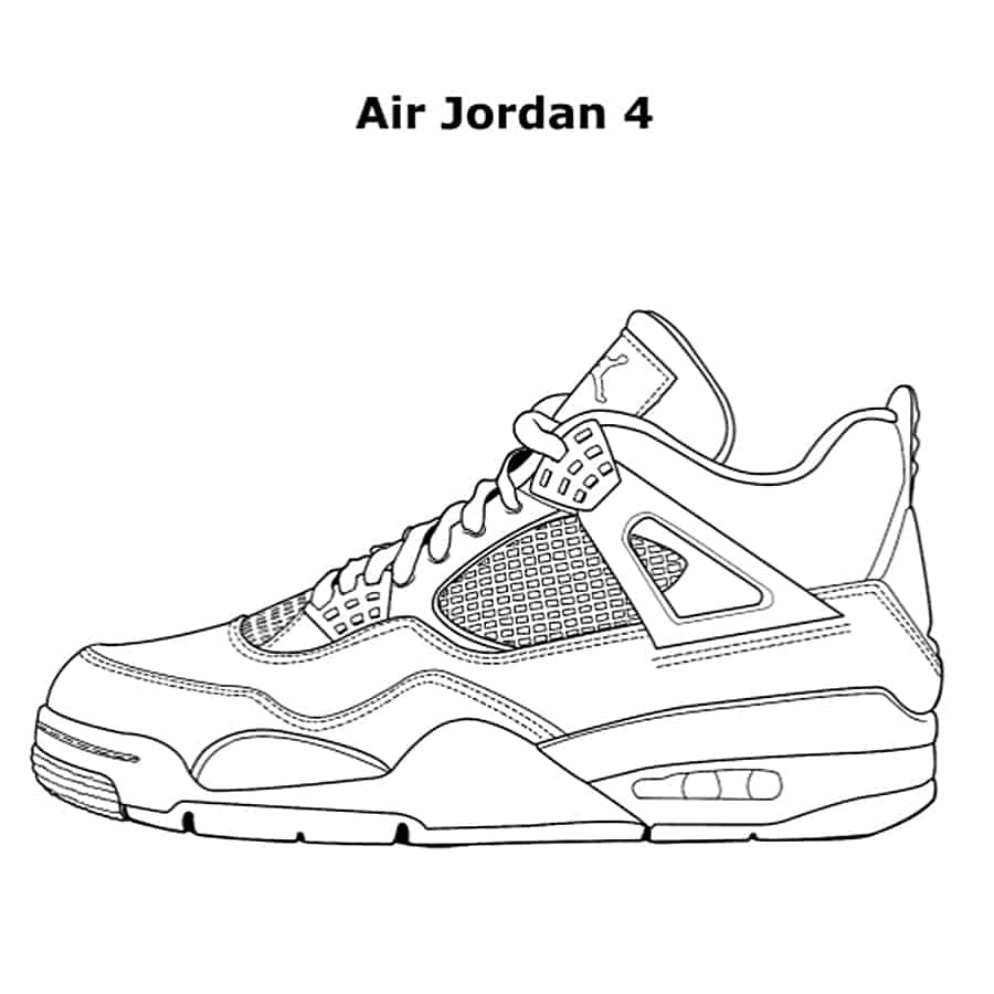coloring picture shoes jordan drawing shoes at getdrawings free download picture coloring shoes