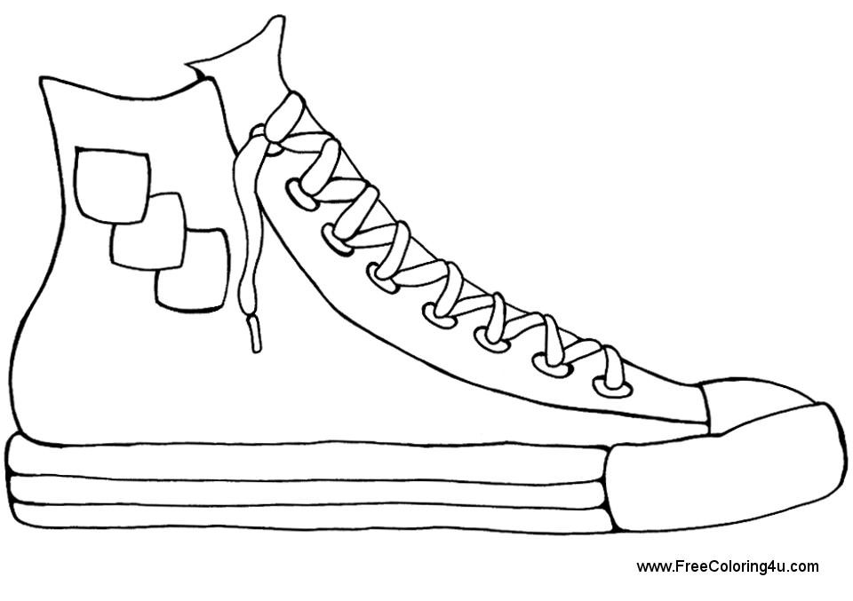 coloring picture shoes nike sneakers drawing at getdrawings free download coloring picture shoes
