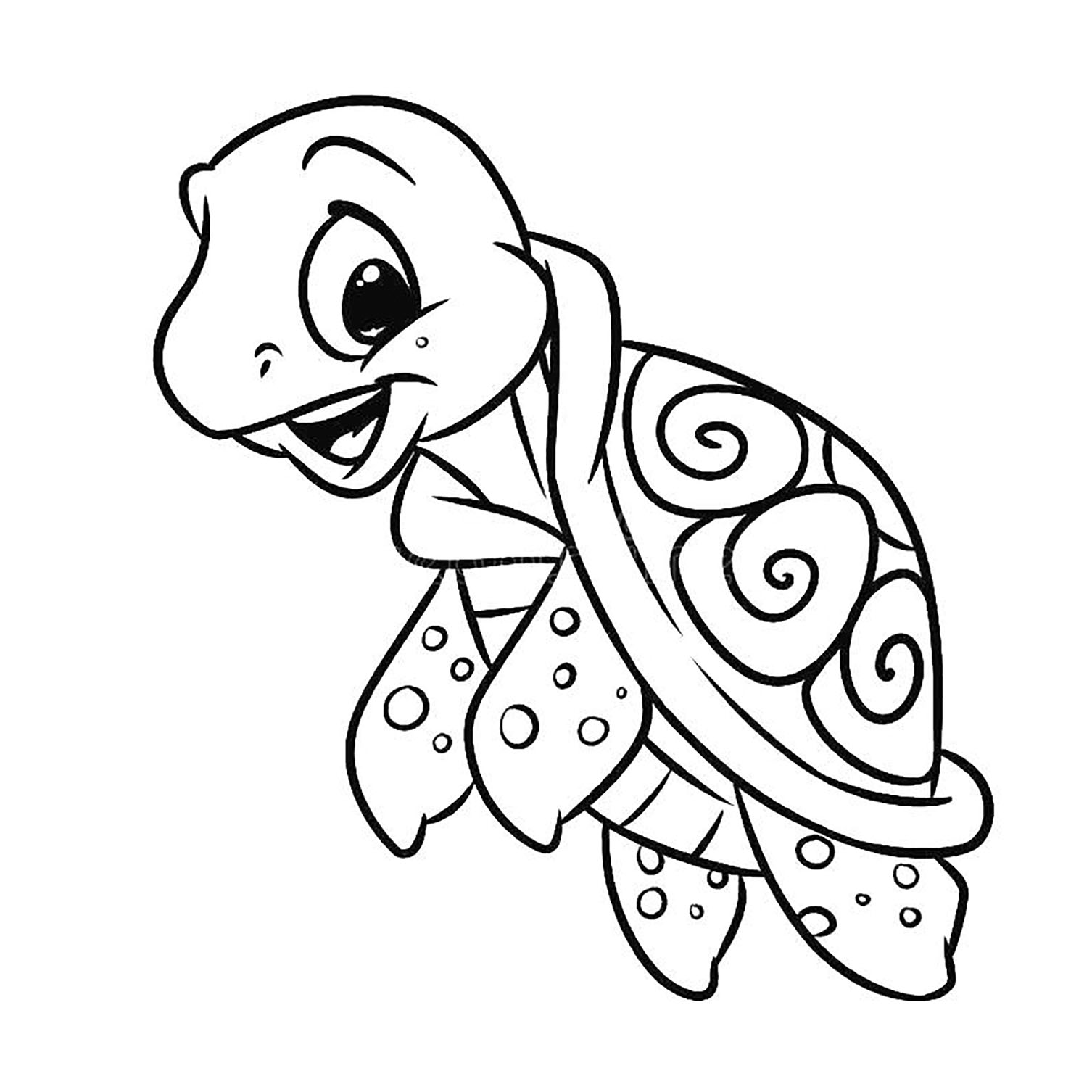 coloring picture turtle coloring page cute cartoon hatchling of sea turtle stock coloring turtle picture
