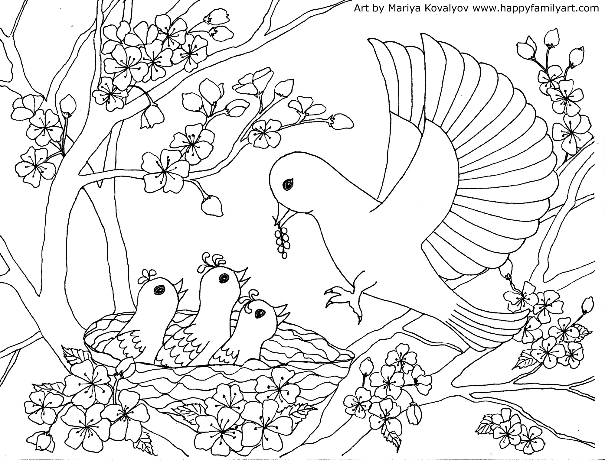 coloring pictures birds birds coloring page happy family art birds pictures coloring