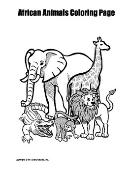 coloring pictures for grade 4 printable african animals coloring page worksheet by coloring grade for 4 pictures