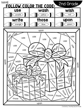 coloring pictures for grade 4 sight word christmas coloring pages with 2nd grade words tpt pictures for coloring grade 4