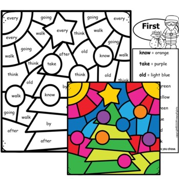 coloring pictures for grade 4 sight words christmas color by sight words first grade 4 for pictures grade coloring